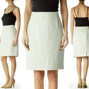 new Halogen Woven Tweed Chic Summer Pencil Skirt